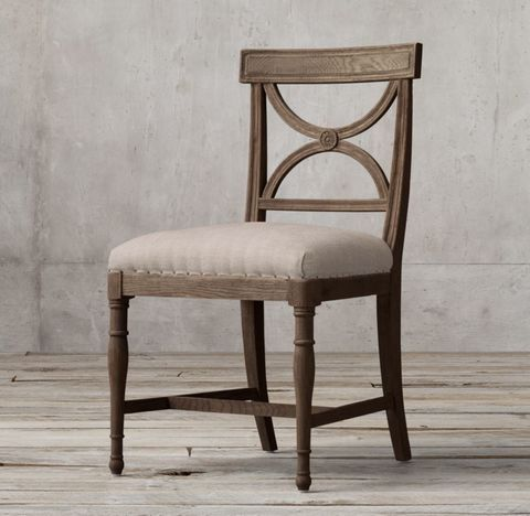 18th C. Gustavian X-Back Fabric Side Chair