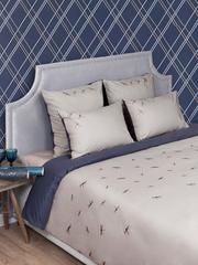 Постельное белье 2 спальное евро Bovi Dragonfly бежево-синее