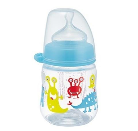 Бутылочка пластиковая 150 мл, с соской силикон NIP
