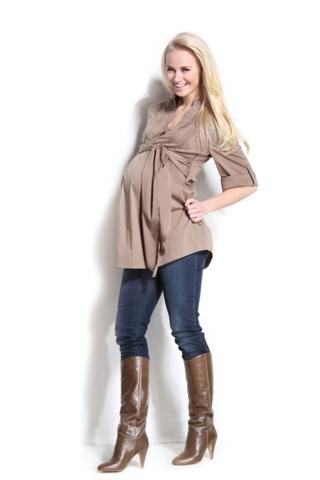 Блузка 01145 коричневый