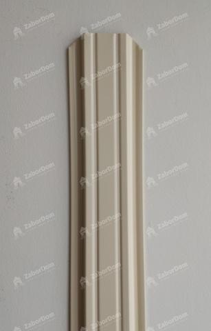 Евроштакетник металлический 85 мм RAL 1014 П - образный 0.5 мм