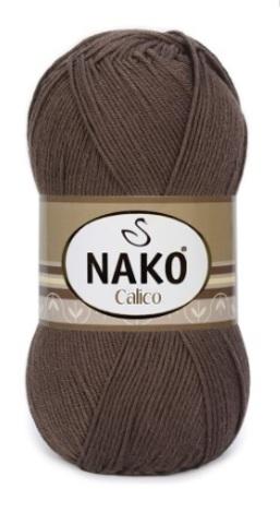 Пряжа Nako Calico шоколад 6962