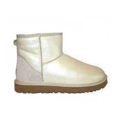 UGG Classic Mini Metallic White