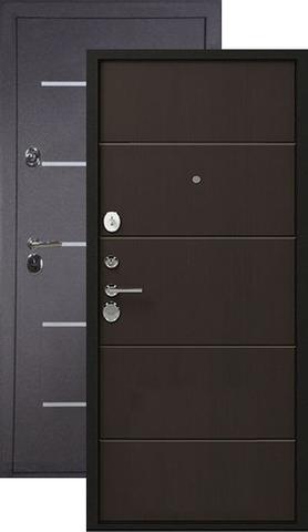 Дверь входная Легион L-2, 2 замка, 1,5 мм  металл, (чёрный шёлк+венге)