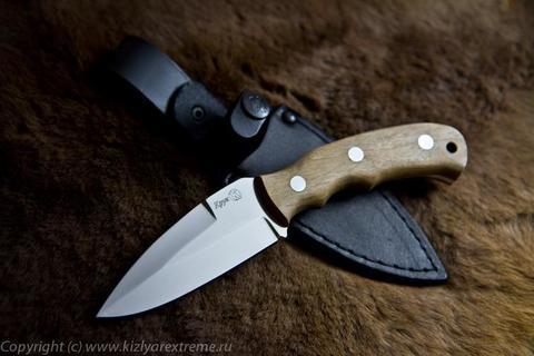Туристический нож Крук z90 Полированный Орех