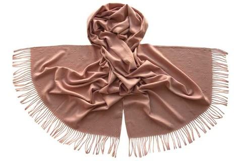 Палантин из вискозы розовый 5329