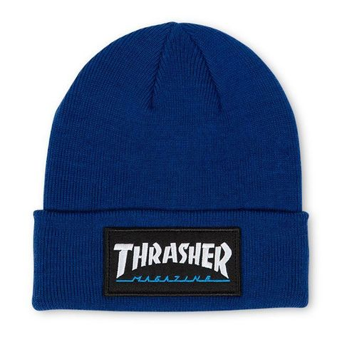 Шапка THRASHER Logo Patch Beanie (Navy)