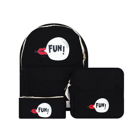Рюкзак, сумка и кошелек Fun Black