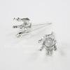 Пуссеты - гвоздики с сеттингом для страза 5 мм (цвет - серебро)(без заглушек)