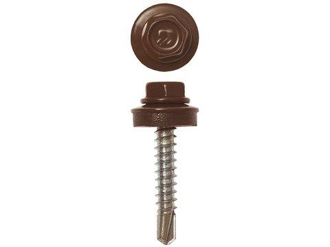 Саморезы СКД кровельные, RAL 8017 шоколадно-коричневый, 29 х 4.8 мм, 400 шт, для деревянной обрешетки, ЗУБР