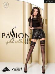 Фантазийные чулки с роскошным узором Gold Collection черные