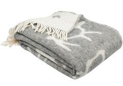 Шерстяное одеяло серое Saaga, 130х170см
