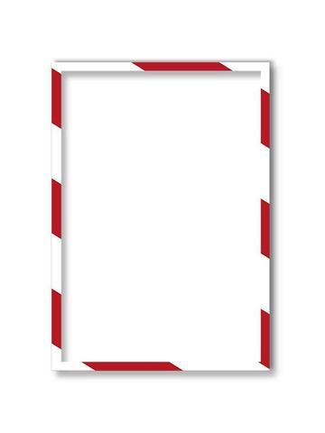 Магнитная рамка А4, бело-красная, 5шт/уп