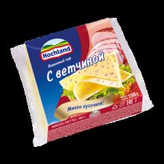 """Сыр плавленый """"Hochland"""" с ветчиной, 150 г"""