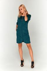 Замшевое зеленое платье