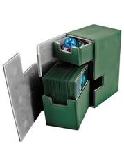 Ultimate Guard - Кожаная зеленая коробочка с отделением для кубиков