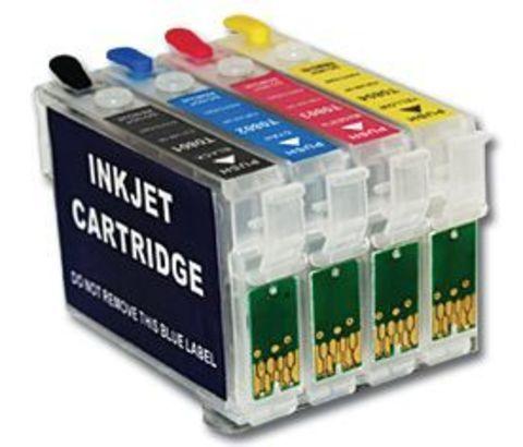 Картриджи заправляемые Epson T26, T27, TX106, TX109, TX117, TX119,  C91, CX4300  комплект 4 штуки. Чипы 6.0
