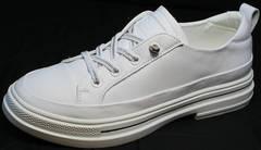 Летние белые туфли кроссовки женские El Passo sy9002-2 Sport White.