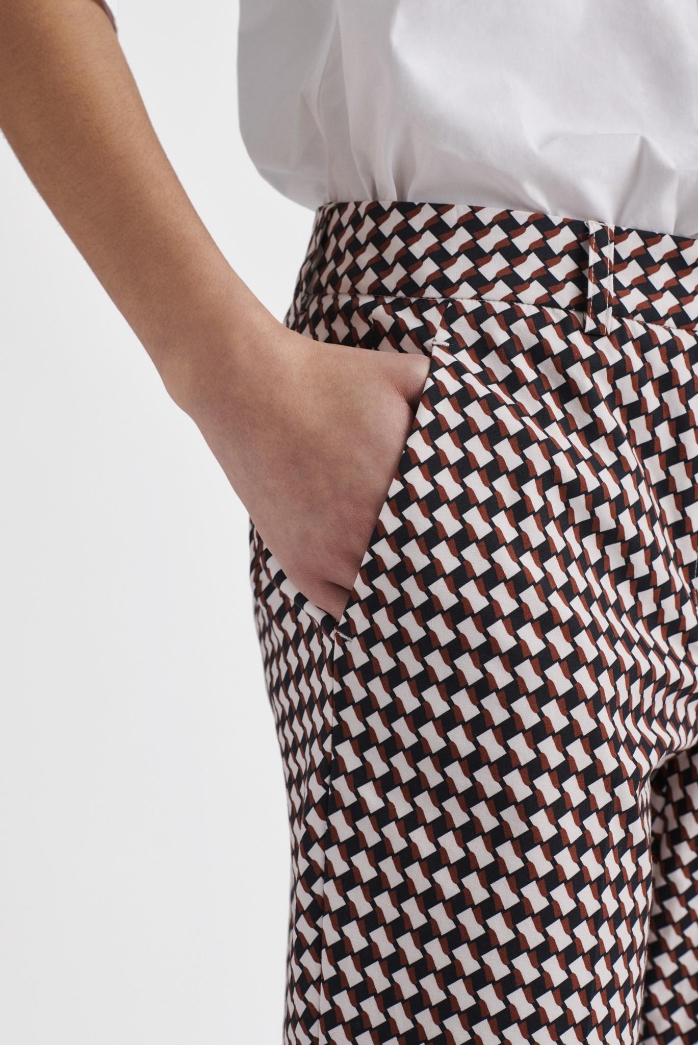 MELANIA - Жаккардовые брюки из хлопка длиной 7/8