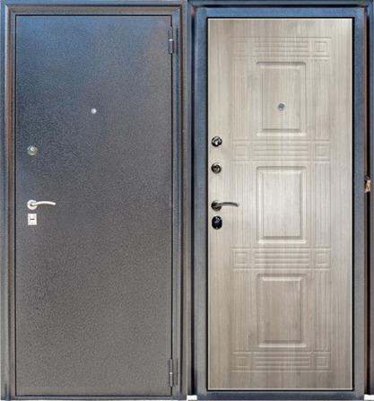 Стальная дверь Зевс Z-6 Серебро-Седой дуб (сталь 1,8 мм.)