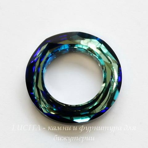 4139 Подвеска Сваровски Cosmic Ring Crystal Bermuda Blue (20 мм)