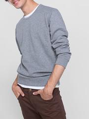BAC005889 джемпер мужской, серый меланж