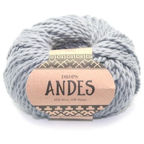 Пряжа Drops Andes 8465 стальной
