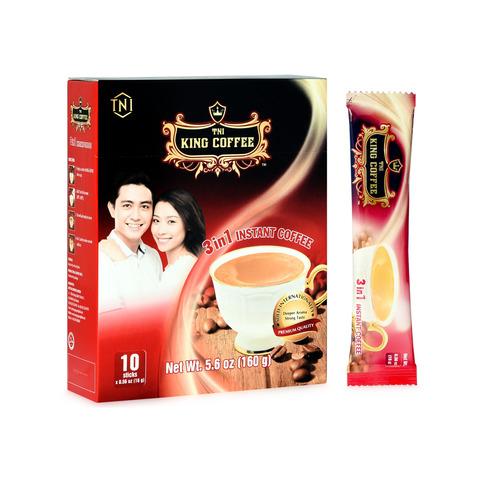Растворимый кофе 3в1 King Coffee. 10 пакетиков.