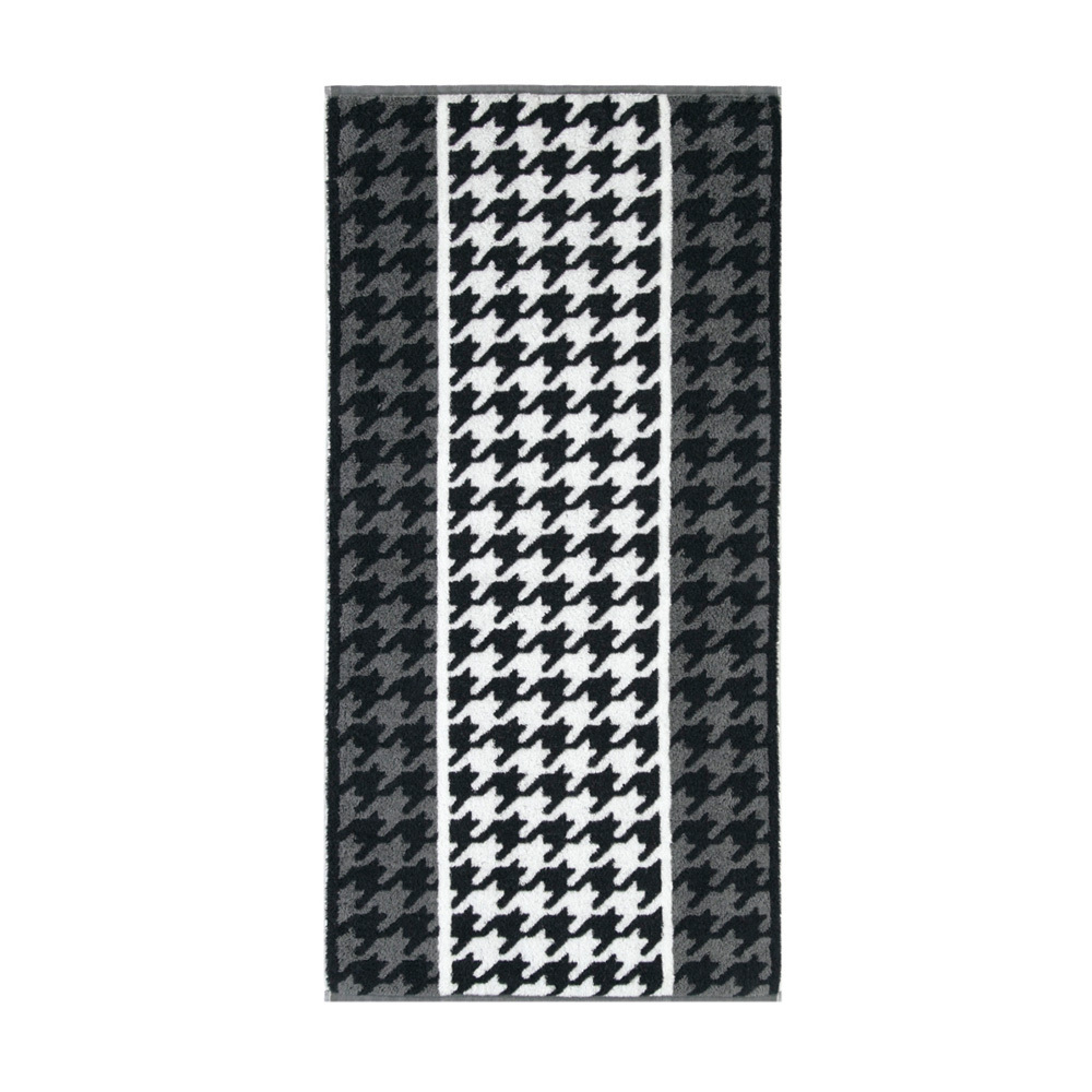Полотенца Полотенце 50x100 Cawo Black & White Jacquard 521 черно-белое elitnoe-polotentse-mahrovoe-black-white-jacquard-521-cherno-beloe-ot-cawo-germaniya.jpg