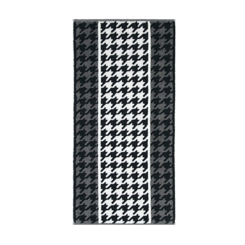 Полотенце 50x100 Cawo Black & White Jacquard 521 черно-белое