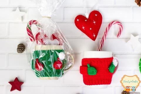 Подарунковий набір Святковий в червоному светрі