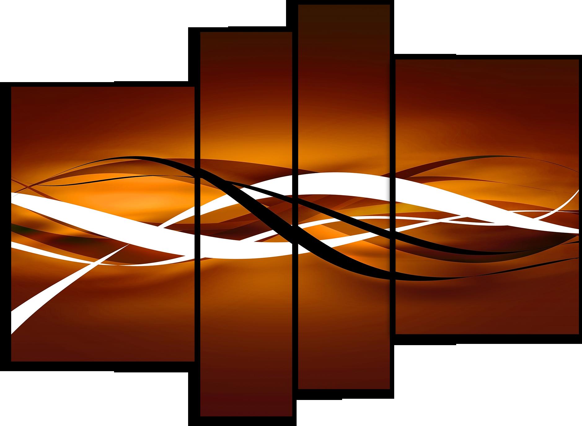 """Модульные картины Модульная картина """"Коричневые линии"""" М2048.png"""