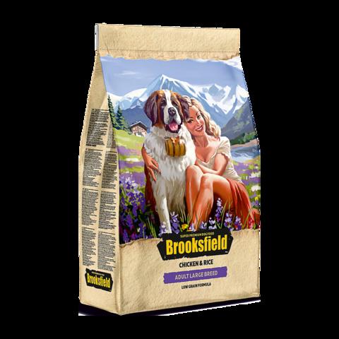 Brooksfield Adult Large Breed Chicken & Rice Сухой корм для собак крупных пород с курицей и рисом