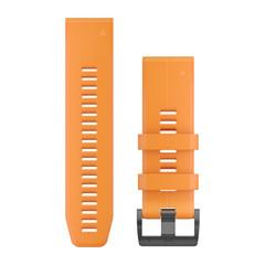 Ремешок силиконовый QuickFit 26 для Garmin Fenix 5X (оранжевый) 010-12741-03