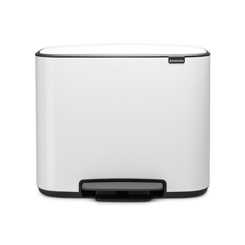 Мусорный бак Bo  (3 x 11 л), Белый, арт. 121005 - фото 1