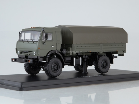 KAMAZ-4350 4x4 Mustang with awning khaki 1:43 Start Scale Models (SSM)