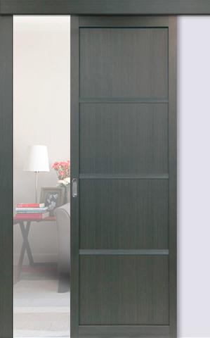 Перегородка межкомнатная Optima Porte 104.1111, цвет венге, глухая (за 1 кв.м)