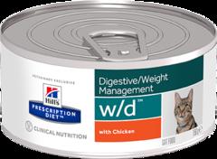 Ветеринарный корм для кошек для контроля веса Hill`s Prescription Diet w/d фарш с курицей