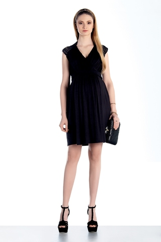 Платье для беременных 07435 черный