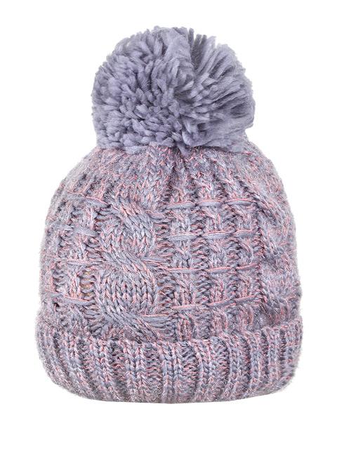HT1801-1 шапка женская, серая