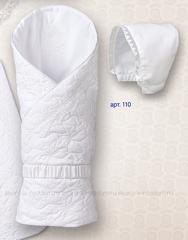Sdobina. Одеяло-конверт из сатина с чепчиком и пояском