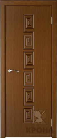 Дверь Крона Греция, цвет орех, глухая
