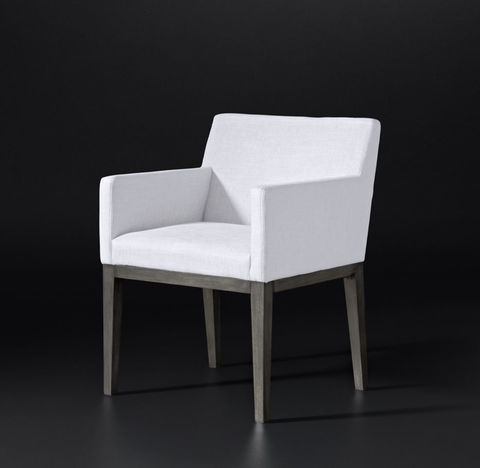Morgan Track Arm Fabric Armchair