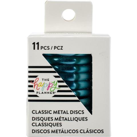 Диски металлические - (крепежный механизм для ежедневников) Happy Planner Expander (Medium- Classic) - Teal- 3.3 см