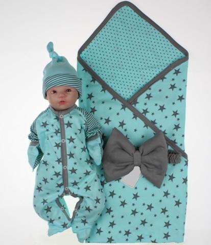 Комплект на выписку для новорожденных Лето ментол