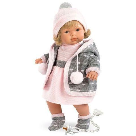 LLORENS: Кукла Лола 38см, блондинка в сером пальто 38544