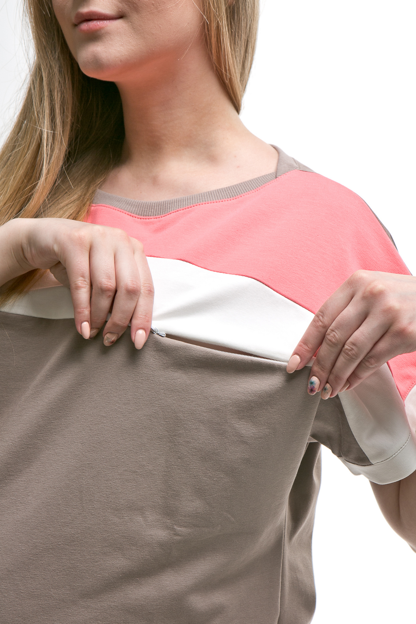 Костюм для беременных и кормящих 10622 визон