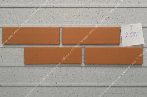Stroeher, облицовочная клинкерная плитка, цвет 200 Saumon , серия Keravette, unglasiert, неглазурованная, гладкая, 240x71x11