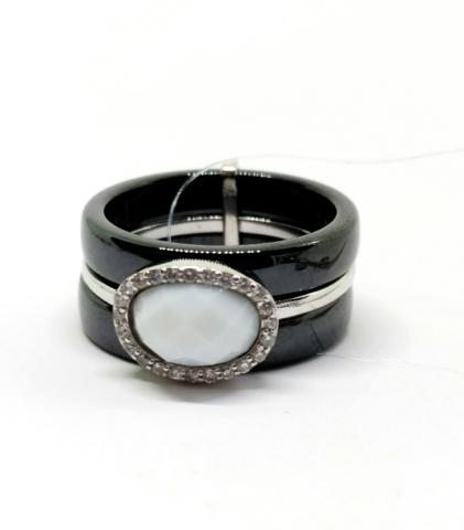 Кольцо из черной керамики от SOKOLOV арт.94011601