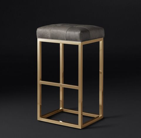 Reese Tufted Leather Stool